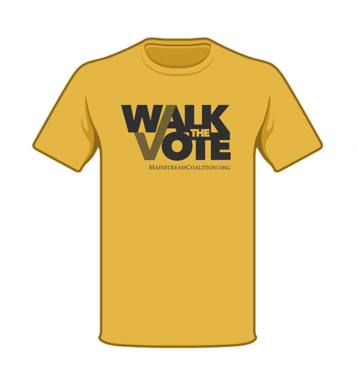 Maize Yellow Walk the Vote 2018 Shirt